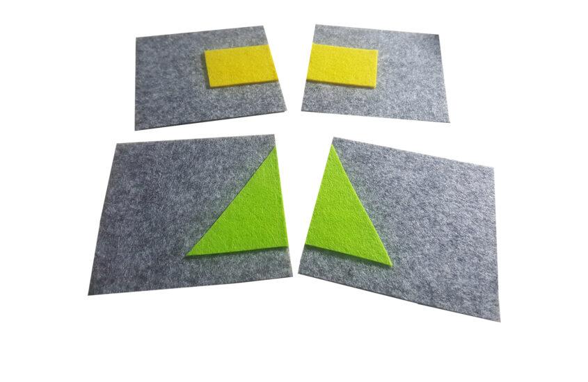 Attività sensoriale Montessori – Puzzle figure geometriche