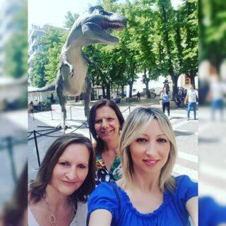 Correva l'anno 2018 e Cosenza era invasa dai Dinosauri, nessuno poteva pensare che dopo 2 anni avrebbero rinchiuso le persone! Tre maestre in fuga. • #cosenza #dinosauri #maestre #calabria #cittàcosenza #jurassicexpointour